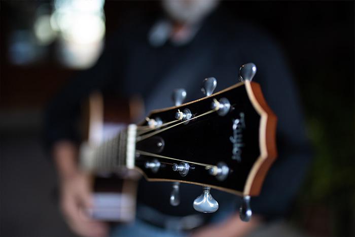 Victor Hafichuk's guitar close up